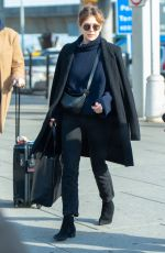 Elizabeth Olsen At JFK Airport