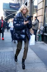 Elsa Hosk Attending a fitting for the Marc Jacobs runway presentation for New York Fashion Week in New York City