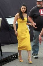 Emeraude Toubia On the set of