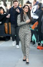 Emeraude Toubia Outside the AOL Build Series Studios in New York