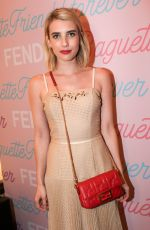 Emma Roberts At Fendi Celebrates the Baguette in New York City
