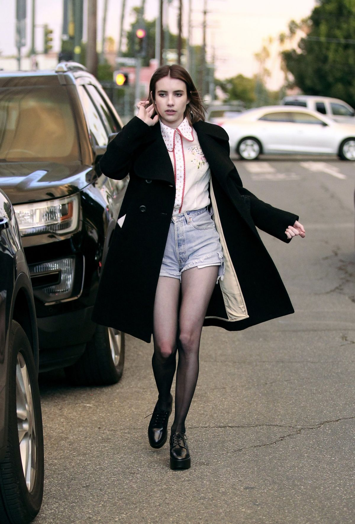 Emma Roberts Out with friends in Los Angeles