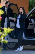 Eva Longoria Arrives at a hotel in Beverly Hills