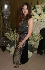 Felicity Jones At British Vogue and Tiffany & Co. Celebrate Fashion and Film Party in London
