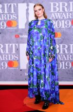 Freya Ridings Attending the Brit Awards 2019 at the O2 Arena, London