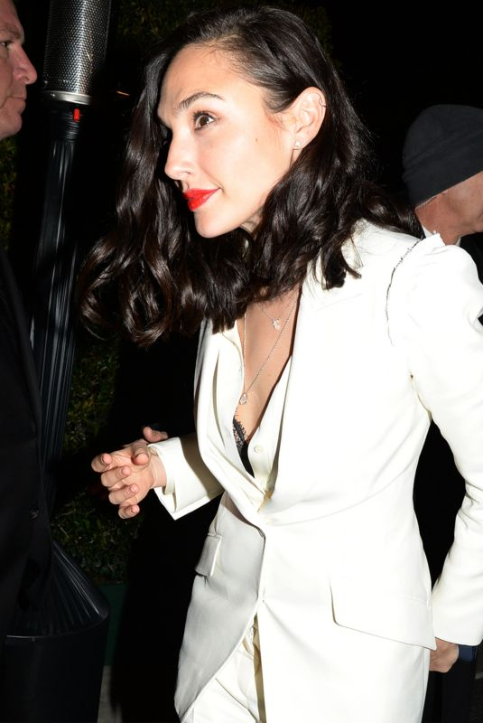 Gal Gadot Arriving at the WME Pre-Oscar Party in Los Angeles