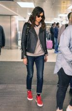 Gemma Chan Flies into Heathrow Airport after attending the Oscars in Los Angeles