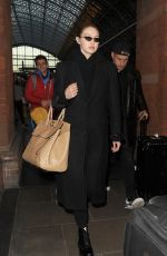 Gigi Hadid Arriving at St Pancras station in London