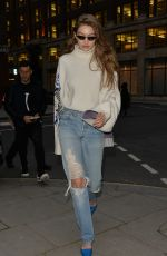 Gigi Hadid Out in London
