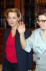 Gillian Anderson Pictured leaving the Noel Coward Theatre after performing in All About Eve