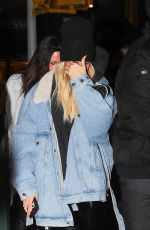 Hailey Baldwin Leaving the Lure Fishbar after dinner in NYC