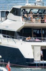 Halsey Chilling Out On A Yacht On Sydney Harbour