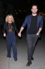 Hayden Panettiere and Brian Hickerson catch a flick in Hollywood