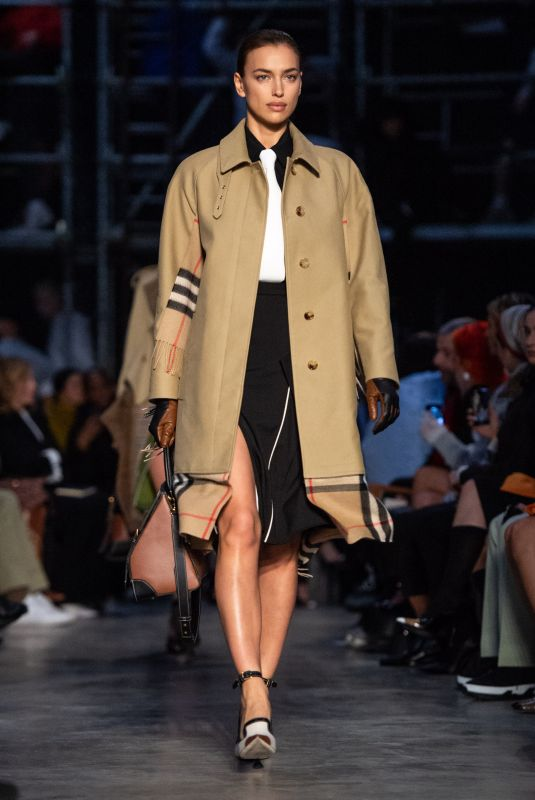 Irina Shayk At British fashion house Burberry 2019 A/W collection catwalk show at LFW in London