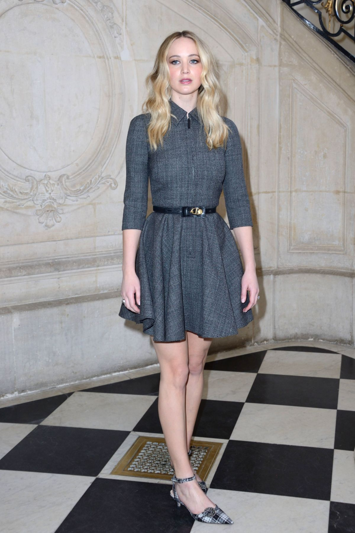 Jennifer Lawrence At Christian Dior show during PFW ...