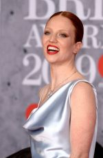 Jess Glynne At 39th Brit Awards at The O2 Arena in London