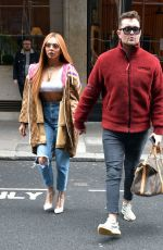 Jesy Nelson & Leigh-Anne Pinnock Arrive at their record label Sony Studios in London