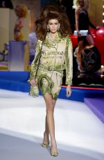 Kaia Gerber At Moschino fashion show in Milan
