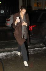 Kaia Gerber Returns to her hotel after a long day in New York