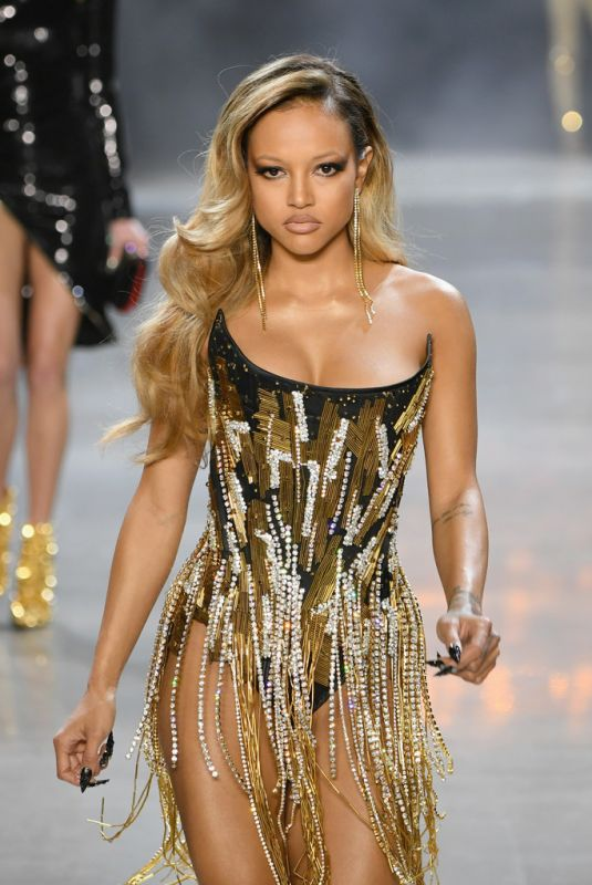 Karrueche Tran At The Blonds show during New York Fashion Week