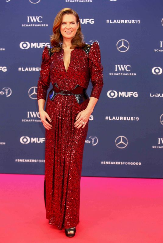 Katarina Witt Attends the 2019 Laureus World Sports Awards in Monaco