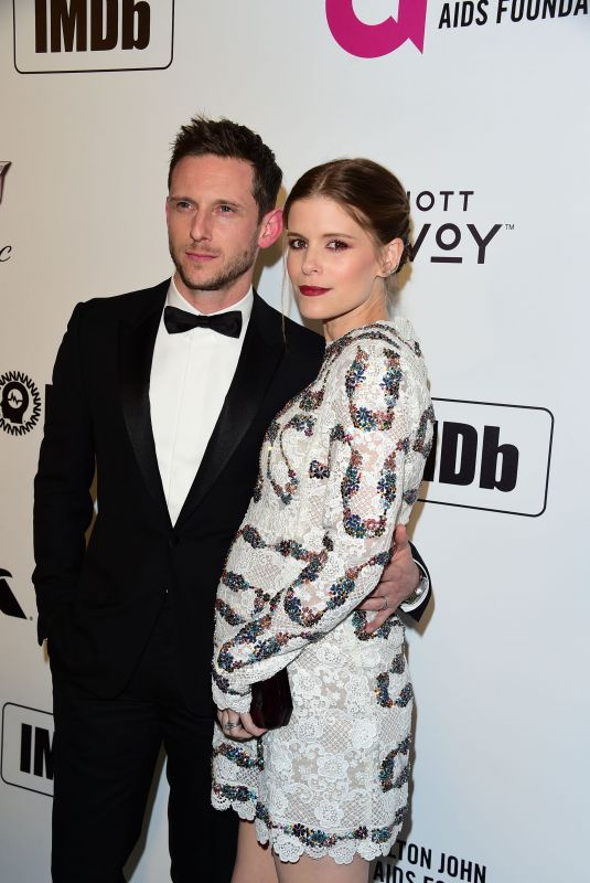 Kate Mara At Elton John AIDS Foundation Academy Awards Viewing Party in Hollywood