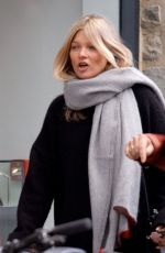 Kate Moss Layers up on a freezing cold day as she browses the shops in London