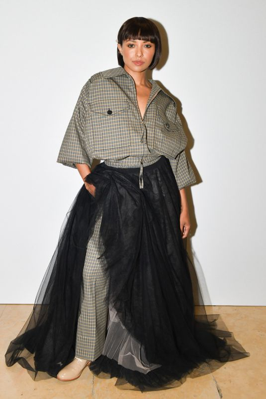 Katerina Graham Attends the Rochas show as part of the Paris Fashion Week Womenswear Fall/Winter 2019/2020