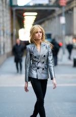 Katherine McNamara Out and about in the Financial District in New York City