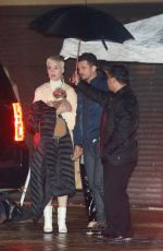 Katy Perry and Orlando Bloom enjoy a romantic evening with their fur baby while out in Malibu