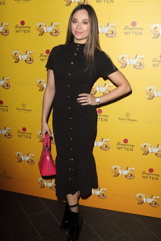 Katya Jones At 9 to 5 the Musical Gala Night at The Savoy Theatre in London