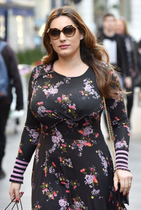 Kelly Brook Arriving at Heart Radio in London