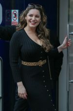 Kelly Brook Leaving Global Studios in London