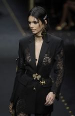 Kendall Jenner At Versace Fashion in Milan