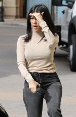 Kourtney Kardashian Visiting her grandmother in Calabasas