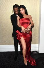 Kylie Jenner Poses during the Pre-GRAMMY Gala and GRAMMY Salute to Industry Icons Honoring Clarence Avant in Beverly Hills