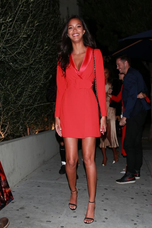 Lais Ribeiro Attends a pre-Oscars party at a private residence in Beverly Hills
