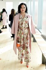 Lana Condor At Tory Burch Fall Winter Fashion Show at Pier 17 in New York City