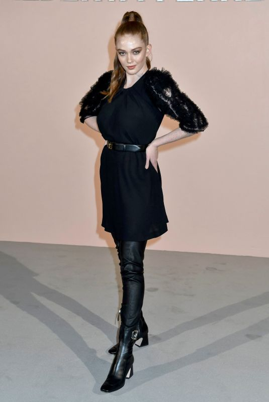 Larsen Thompson At Alberta Ferretti show, Fall Winter 2019, Milan Fashion Week, Italy