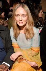 Laura Haddock At Alberta Ferretti show, Fall Winter 2019, Milan Fashion Week, Italy