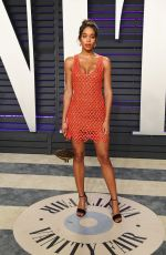 Laura Harrier At 2019 Vanity Fair Oscar Party hosted by Radhika Jones at Wallis Annenberg Center for the Performing Arts in Beverly Hills