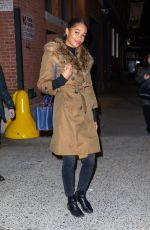 Laura Harrier Leaving Highline Stages in NYC