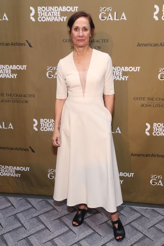 Laurie Metcalf At Roundabout Theatre Company 2019 Gala held at the Ziegfeld Ballroom in New York