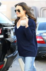 Lea Michele Leaving Nine Zero One Salon in West Hollywood