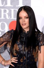 Lily Allen At 39th Brit Awards at The O2 Arena in London