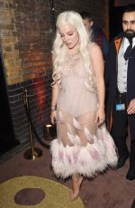 Lily Allen At the Chiltern Firehouse in London