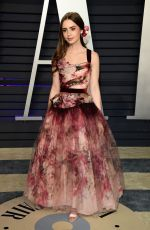 Lily Collins At 2019 Vanity Fair Oscar Party hosted by Radhika Jones at Wallis Annenberg Center for the Performing Arts in Beverly Hills