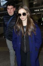 Lily Collins At LAX