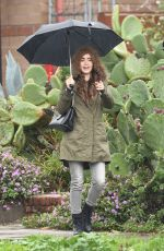 Lily Collins Leaves a holistic studio in Los Angeles