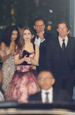 Lily Collins & Noah Centineo Outside Vanity Fair Oscar Party in LA